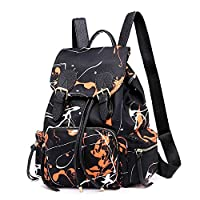 RFSAZ backpack Women Nylon Backpack School Backpacks For Teenage Girls Female Rucksack Bolsas Mochilas Floral Shoulder Bag