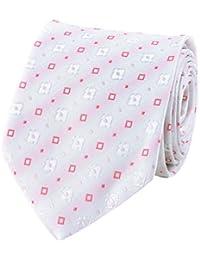 Cravate club carrés rose