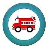"Kindermöbelgriff""Feuerwehrauto"" petrol Holz Buche Kinder Kinderzimmer 1 Stück Fahrzeuge Transportfahrzeuge"