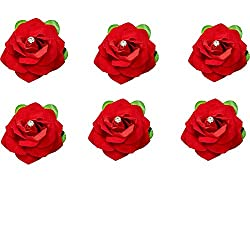 Beautiful Rose Hair Clips for Girls set of 6 pcs