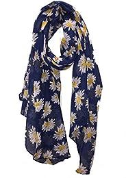 Navy blue daisy scarf Lovely soft scarf