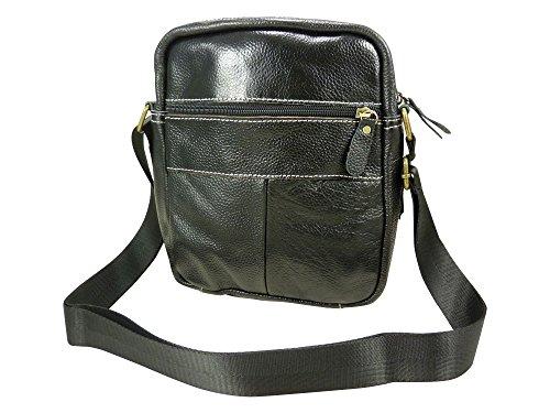 Umhängetasche Tasche aus Rindsleder - schwarz