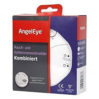 AngelEye SCO5-AE-DER Batteriebetriebener Rauch-und Kohlenmonoxidmelder für die Anwendung in privaten Wohnbereichen, weiß
