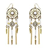 Best Lux Accessories Friend For Boy And Girls - Lux Accessories White Navajo Dream Catcher Dangle Earrings Review
