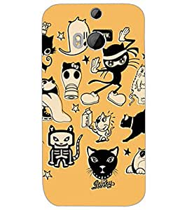 HTC ONE M8S CARTOONS Back Cover by PRINTSWAG