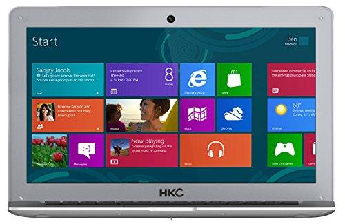 HKC NT14W-DE 35,6cm (14 Zoll ) 1920x1080 Full HD IPS Bildschirm Laptop, 4GB RAM, 32GB eMMC Speicher, USB 3.0, (Intel Atom Quad Core, x5 Z8350 CPU, Burst Frequenz 1,92 GHz, Intel FHD, Deutsch Windows Home 10, 64 Bit), Deutsch Tastatur. Deutsch Netzadapter, Silber, neue Version - 4