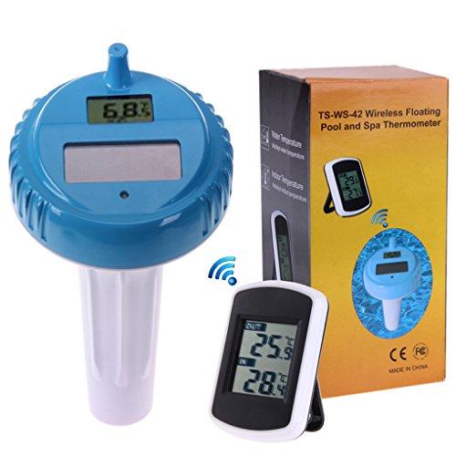Onepeak Solar Wireless Schwimmen Spa Pool Thermometer Digital Schwimmen Float Temperatur Meter Indoor und Outdoor Pool Thermometer