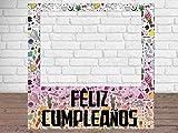 Photocall Feliz Cumpleaños Eventos o Celebraciones puntuales | Medidas 1,00 m x 1,00 m | Ventanas Troqueladas | Photocall Divertido | Atrezzos