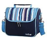 DCCN Outdoor Kühltasche Isolierte Mittagessen Tasche Kleine Wickeltasche mit 2 Abnehmbaren Netztaschen und Schultergurt
