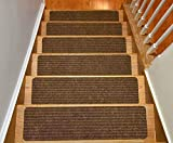 stair Treads Collection indoor Skid slip Resistant Carpet stair Tread Treads, marrone, CECOMINOD091624