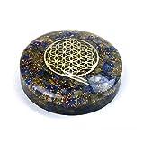 Orgonite Disque avec Fleur de Vie en métal - Lapis Lazuli Bleu