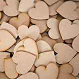 Wooden Hearts Wood Cutout Craft for Rustic Wedding Decoration 4cm Pack Of 50