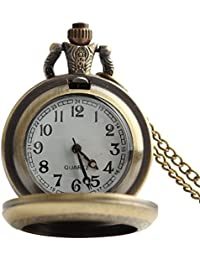 lekima reloj de bolsillo Gousset collar colgante retro romántico Elégant puerta Photo cuarzo aleación Fantasía hombre mujer regalo