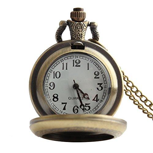 lekima Taschenuhr Taschenuhr Halskette Anhänger Retro Romantische Elegant Tür Foto Quartz Legierung Fantasie Herren Damen Geschenk