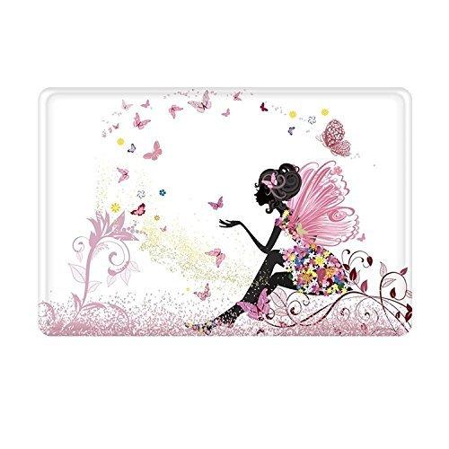 (ELQSMTIR Trendiges Pink Flower Fairy Mädchen mit Schmetterling Badezimmer Dusche Accent Teppich–Rutschfeste Weiche saugfähig Badezimmer Küche Boden Matte Teppich 59,9x 39,9cm)