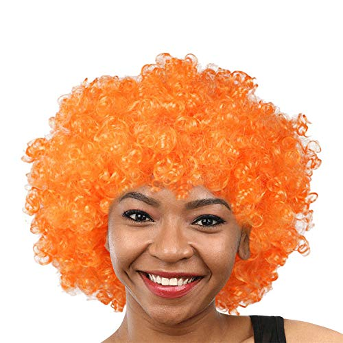 Explosion Kopf Perücke Maskerade Verkleiden Sich Lustige Farbe Perücken, Zolimx Party Disco Clown Hair Football Fan Afro Maskerade Haar Perücke (Football Kostüm Erwachsene)