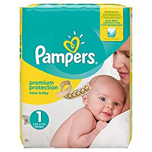 Pampers Premium Protection Nappies New Baby Jumbo Pack