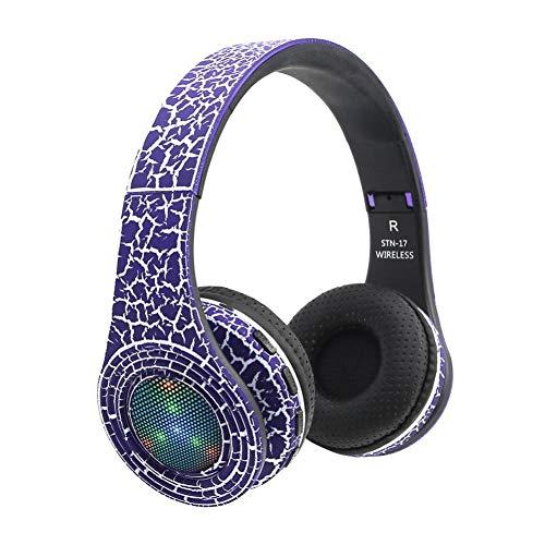 Jintime Drahtloser Bluetooth Kopfhörer, Bluetooth 4.1 Ruction Cancelling über Ohr Kopfhörer mit Mic, Divertissement Vigorous-sized Spiel Kopfhörer mit Ladekabel für iPhone X/Samsung Galaxy Note 8 / Scratch pad PC (Purple)