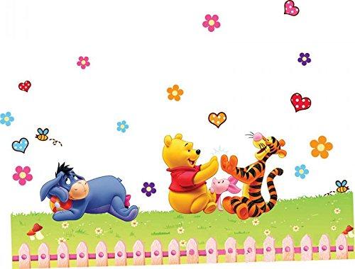 ZuoLan 1pcs Winnie l'ourson sticker mural amovible réutilisable pour Enfants / Garçons / Filles / Décoration Maison Chambre (#F)
