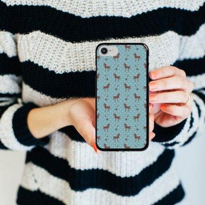 Apple iPhone X Silikon Hülle Case Schutzhülle Einhorn Unicorn Muster Hard Case schwarz