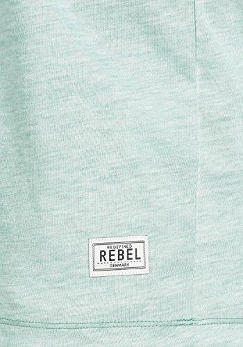 Redefined Rebel Moses Herren T-Shirt Kurzarm Shirt V-Ausschnitt Brusttasche Aus Hochwertiger Baumwollmischung Meliert Deep green