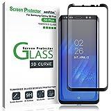 Verre Trempé Galaxy S8 Plus, amFilm Couverture Complète (Courbes 3D) Protection écran pour Samsung Galaxy S8+ (Noir)