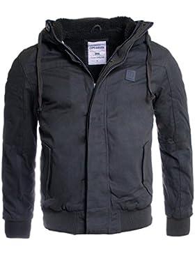 Cipo & Baxx C-7013 - Chaqueta, con manga larga, con cuello con capucha para hombre