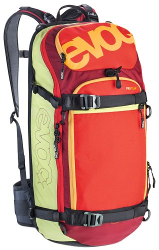 EVOC Protektor Rucksack FR Pro Team Lime-Red-Ruby