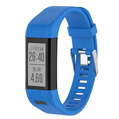 XIHAMA Armband für Garmin Vivosmart HR +, Silikon Ersatzband Fitness Sport Armbänder für Vivosmart HR Plus (Not for Vivosmart HR) (blau)