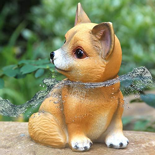 Solarbetriebene LED-Leuchte in Tierform, niedliches Tier-LED-Nachtlicht, Kunstharz, ideal für den Garten oder den Garten Dog siehe abbildung (Tags Party Dog Supplies)