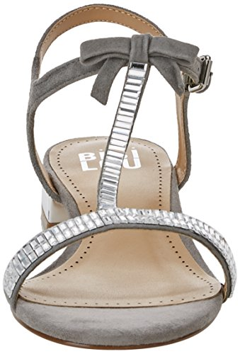 bibi lou 916z00gt, Sandali con cinturino Donna Argentato (argento)
