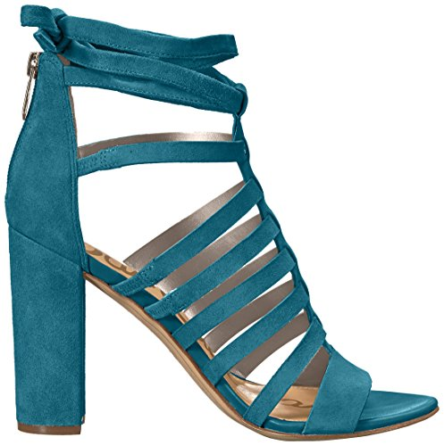 Sam Edelman Womens Yarina Heeled Sandal Pacific Blue Suede