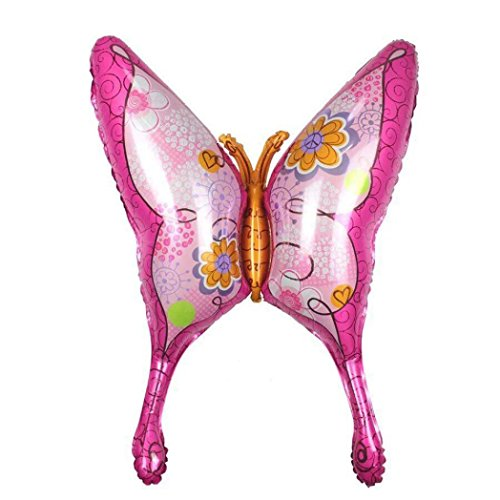 Xshuai 100X95 CM Schmetterling Form Folienballon Geburtstag Hochzeitstag Party Supply Weihnachtsdekor (Rosa) (Geburtstag Supplies Schmetterling Party)