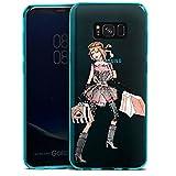 DeinDesign Samsung Galaxy S8 Plus Slim Case transparent hellblau Silikon Hülle Schutzhülle Shopping Queen ohne Hintergrund Handtasche