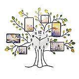Reloj de pared de gran tamaño decorativo del diseño del árbol con los marcos de la foto para la...