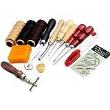 14pièces set de cuir fil coudre, aiguilles outils pour coudre pour artisanat DIY
