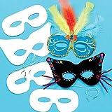 Baker Ross Masken zum Selbstgestalten (12 Stück) für Kinder zum Dekorieren und Verkleiden