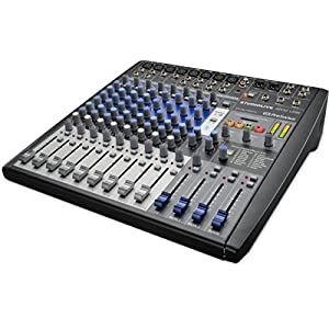 Mixer ibrido 12 ch con connessioni analogiche/digitali, interfaccia USB 2 a 24bit/96 kHz, effetti, registrazione su SD card anche senza computer