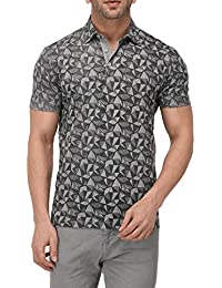 Vivid Bharti Collar Half Sleeve Grey Color Printed T-Shirts