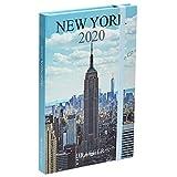 Draeger - Agenda de Poche 2020 Pratik New York - Mini Agenda 2020 Illustré - Couverture Rigide - Fermeture Élastique - Marque-Page Tissu Satiné - Agenda New York Format 9,5 x 14,5 cm