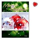 Merry Christmas - beliebte englische und amerikanische Weihnachtslieder - Für 3 Melodieinstrumente, 1-3 Melodieinstrumente mit Klavierbegleitung, Klavier solo - mit herzförmiger Notenklammer