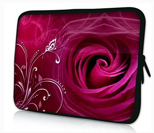 "Laptoptasche Notebooktasche 17"" zoll Fall Neopren für Notebooks Dell HP Macbook Samsung Apple Toshiba*ROSE*"