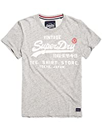 Superdry Herren T-Shirt Shop, Weiß