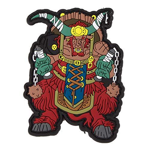 Buffalo Patch (Mr. Tong Chinese Zodiac Sign PVC Patch - Buffalo Büffel Tierkreiszeichen Klett-AUFNÄHER)