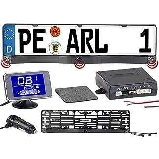 Lescars-Rckfahrhilfe-Funk-Ultraschall-Einparkhilfe-in-Kennzeichen-Halter-mit-LCD-Display-Akustische-Funk-Einparkhilfen