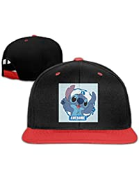 Stitch Awesome Custom Girl Boy Kids Hip-hop Hat Cotton Cool Red