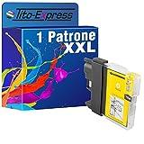 PlatinumSerie® 1x Tintenpatrone XXL mit Chip kompatibel für Brother LC980 LC985 LC1100 Gelb DCP-J 125 DCP-J 140 W DCP-J 315 W DCP-J 515 W