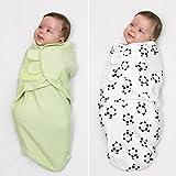 Baby Pucksack 2er Set, 100% Premium Baumwolle, für Säuglinge und nicht nur Schreibabys (S/M, 0-3 Monate, 3,2-6,4 kg), für alle Jahreszeiten. Für Mädchen und Jungen. Ideal als Geschenk