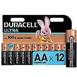 Duracell Ultra AA con Powercheck, Batterie Stilo Alcaline, Confenzione da 12 Pacco del Produttore, 1.5 V, LR06 MX1500