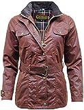 Damen Premium Countrywear Antik gewachst Baumwolle Wachs Jacke Gr. 44, kastanienbraun